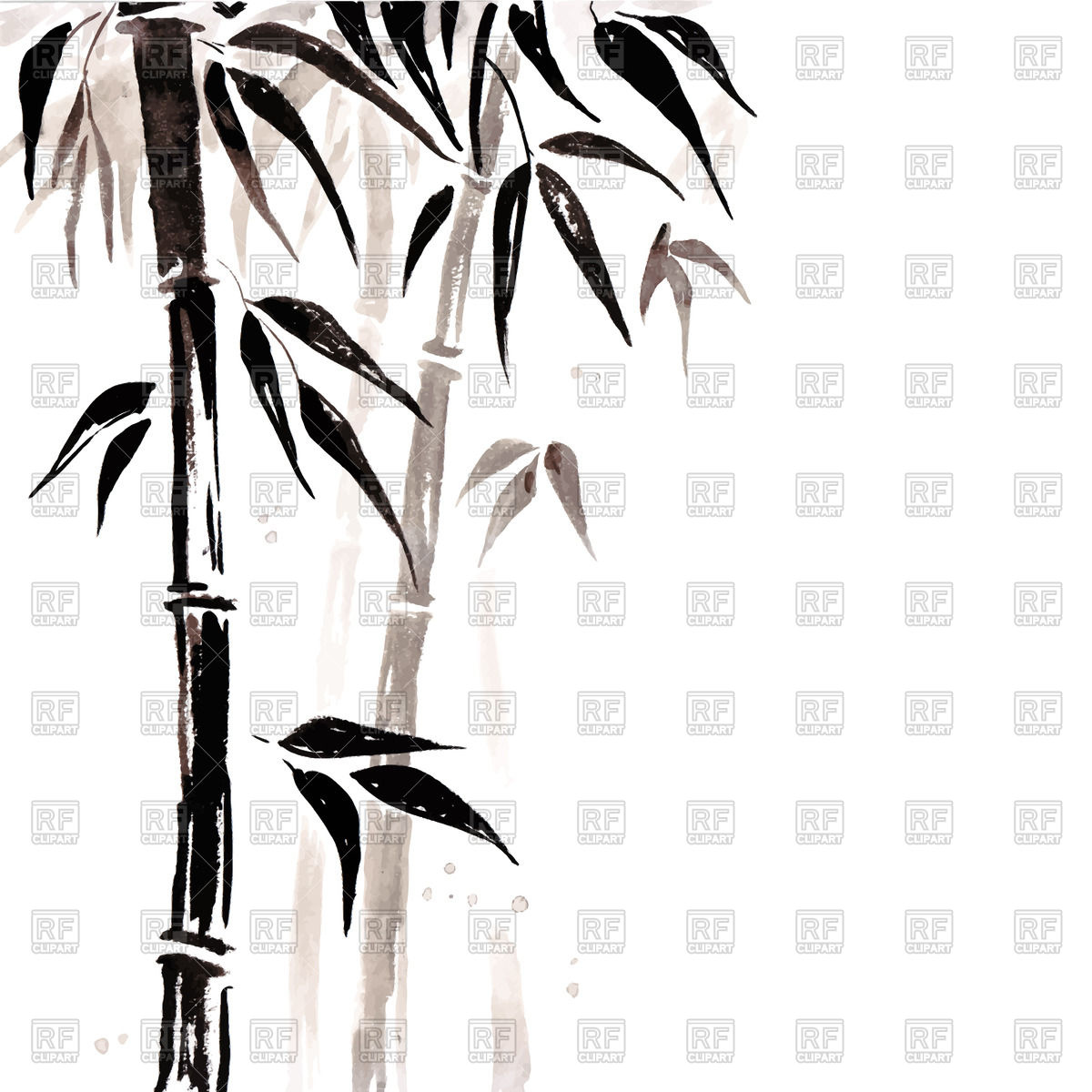 Bamboo Chinese painting Vector Image #51539.
