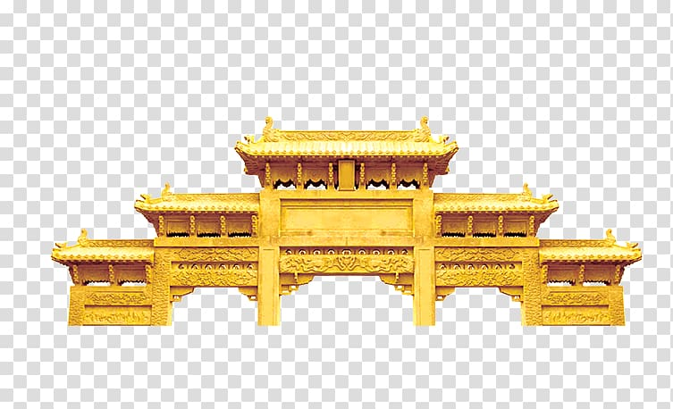Brown temple illustration, Pingquan Vietnam, China Wind classical.