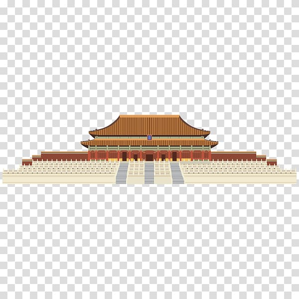 Forbidden City Hall of Supreme Harmony Building Drawing Chinese.