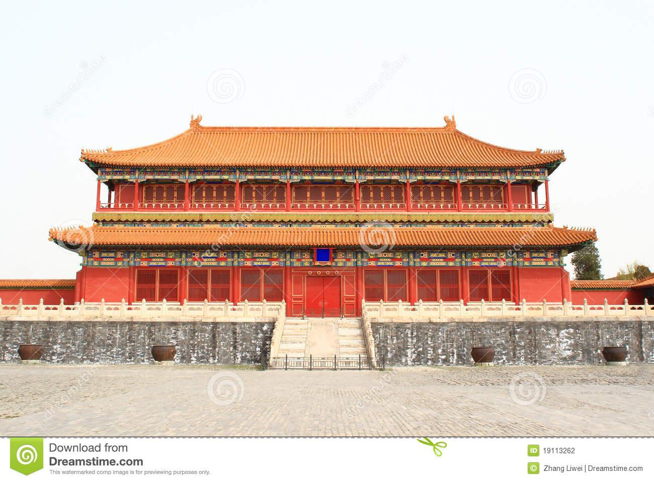 Chinese palace stock photo. Image of brick, history, beautiful.