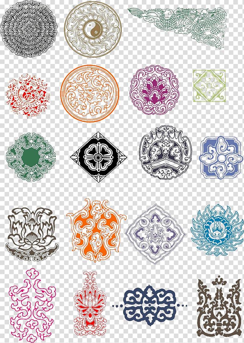 Traditional Chinese characters Pattern, Beautiful pattern.