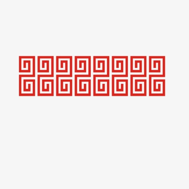 Chinese Red Back Shaped Pattern Border, Chinese Clipart.
