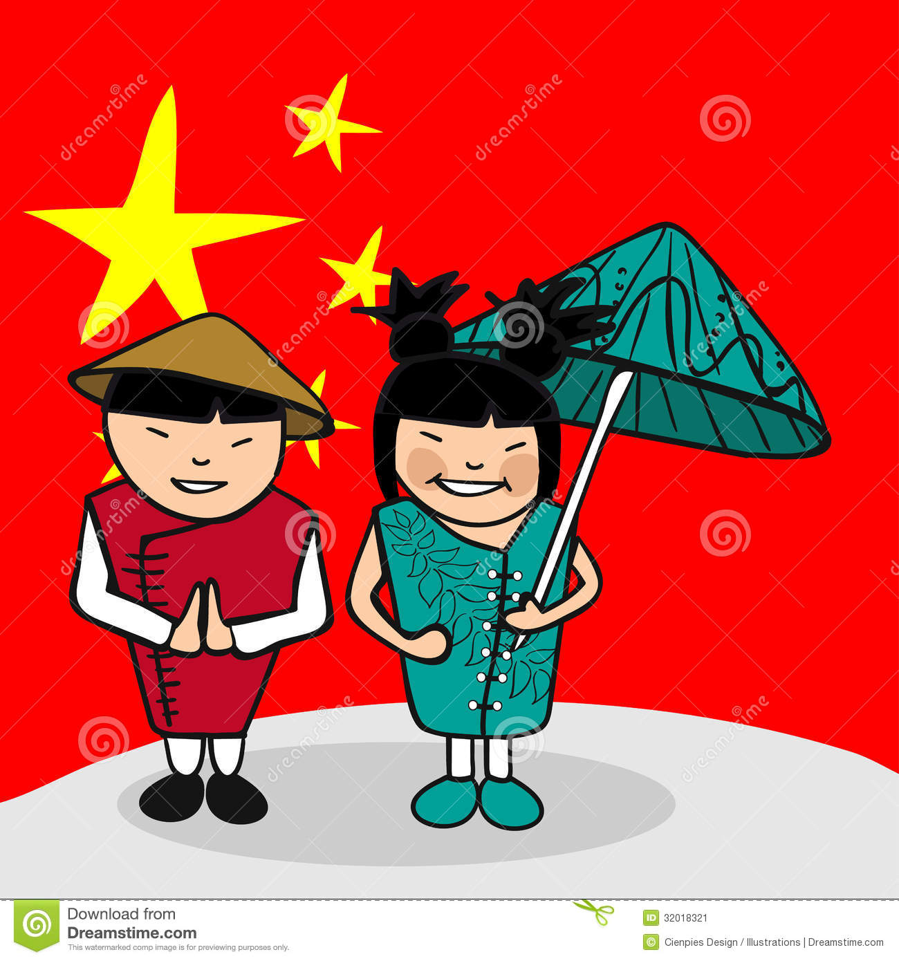 Welcome to China people stock vector. Illustration of different.