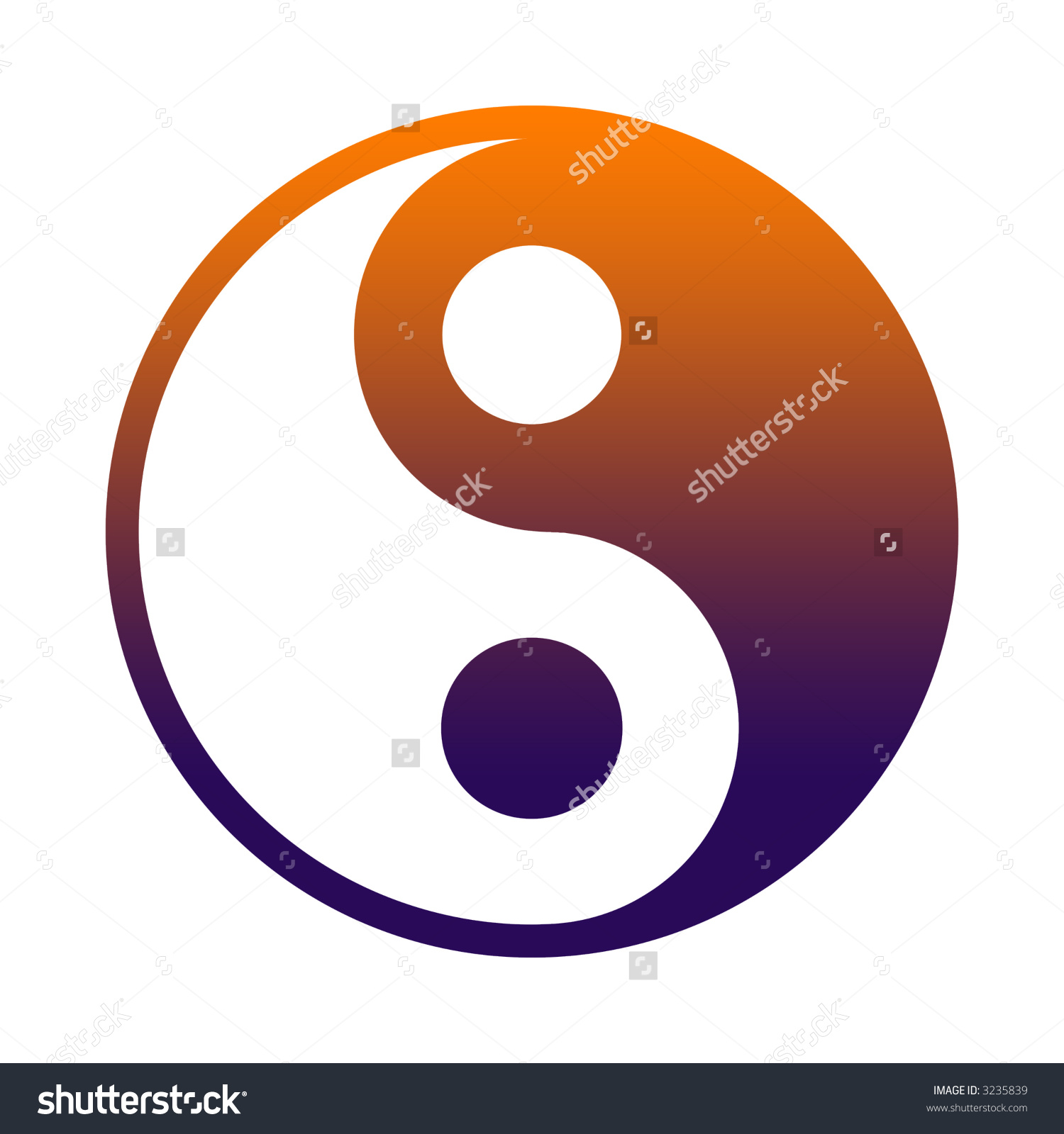 Yin Yang Chinese Philosophy Concept Two Stock Illustration 3235839.
