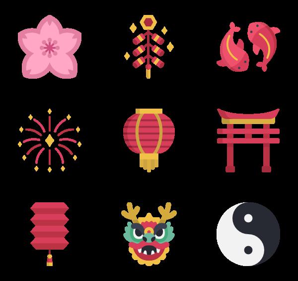 120 chinese icon packs.
