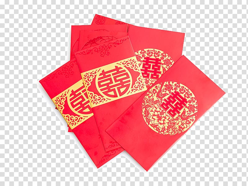 Red envelope Wedding , Chinese New Year red packets transparent.