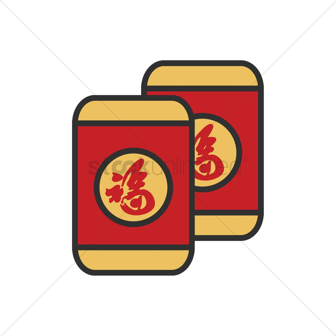 Chinese new year red envelope Vector Image.