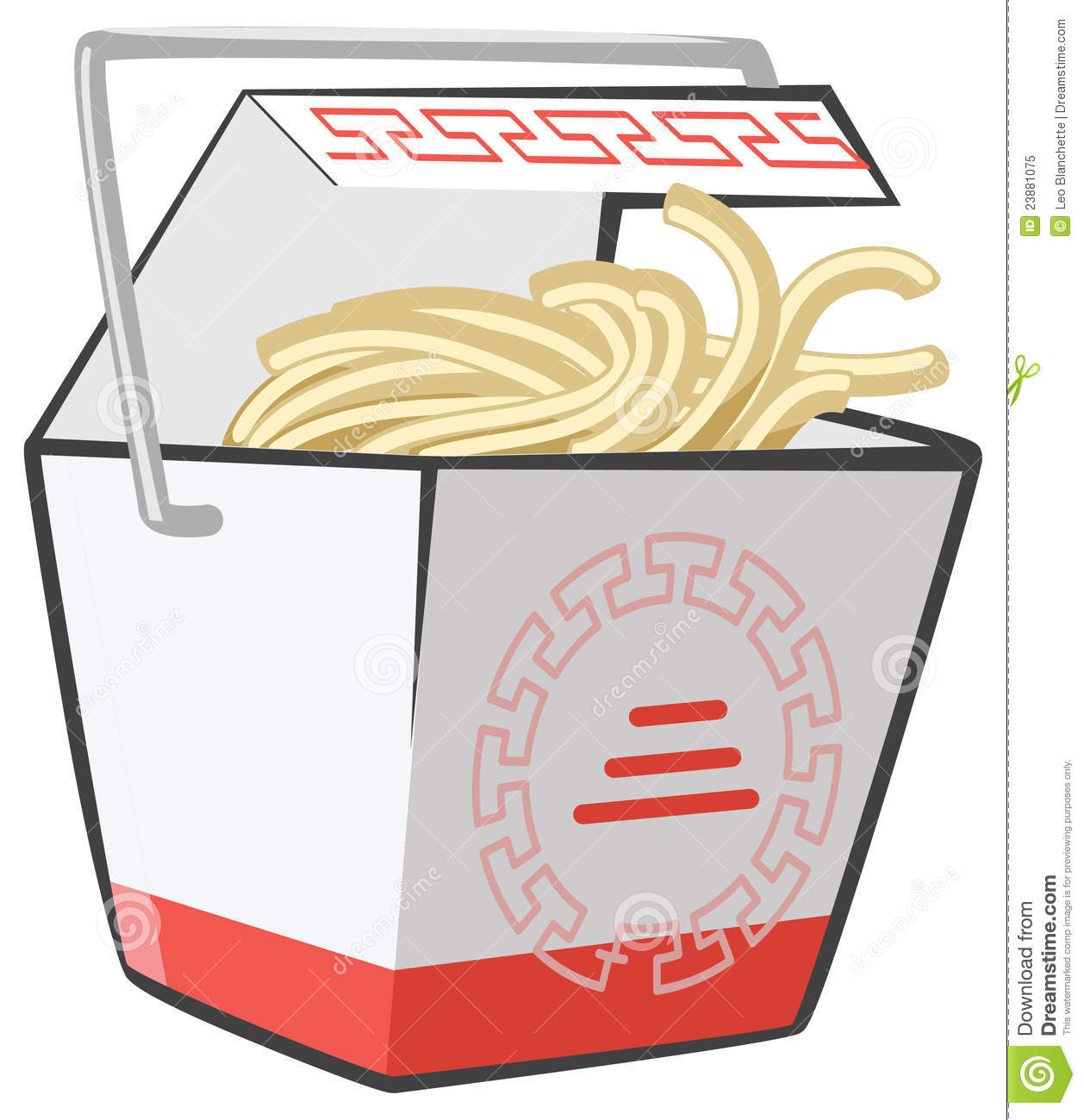 Chinese Take Out Food Clipart.