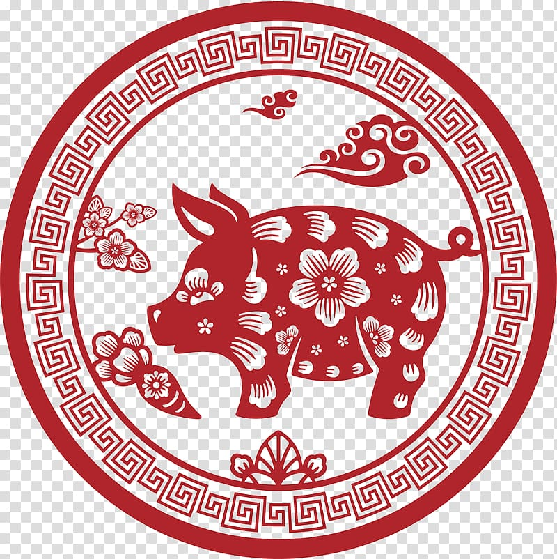 Pig Chinese zodiac Astrological sign Dog Rooster, pig transparent.