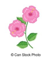 Chinese rose Vector Clipart Royalty Free. 494 Chinese rose clip.