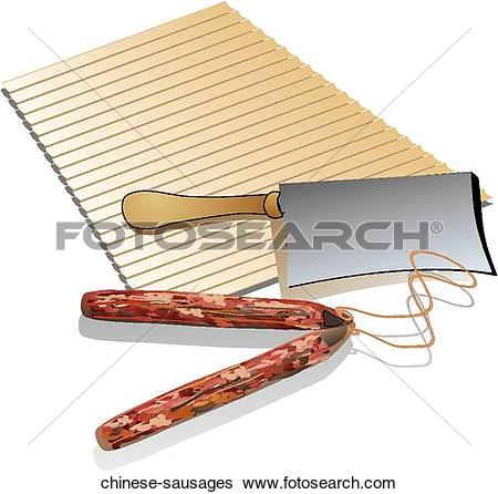 Stock Illustration of Chinese Sausages chinese.