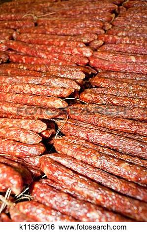 Stock Images of Chinese sausage k11587016.