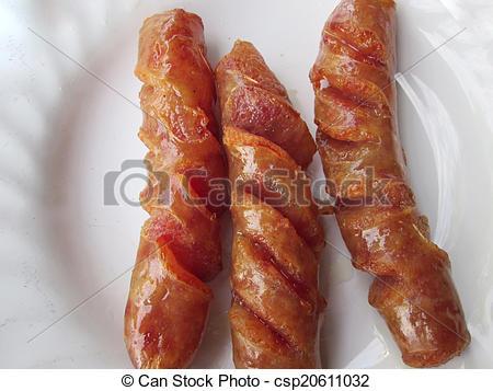 Stock Photos of Chinese Sausage csp20611032.
