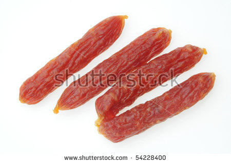 Cured Pork Sausage Stock Photos, Royalty.
