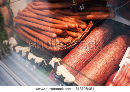 Sausage Counter Stock Photos, Royalty.