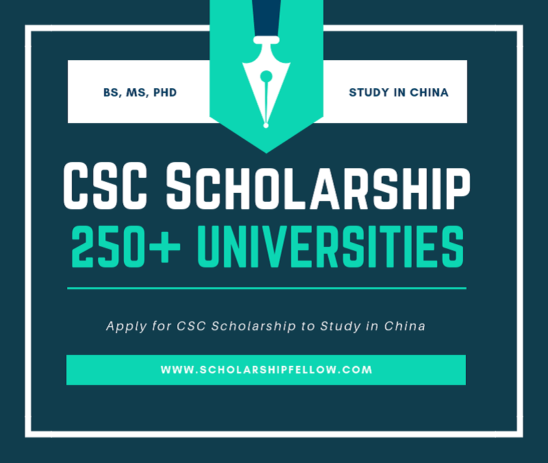 CSC Scholarships 2019.