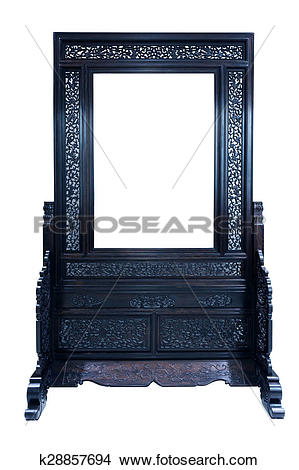 Stock Photo of Chinese furniture screen k28857694.