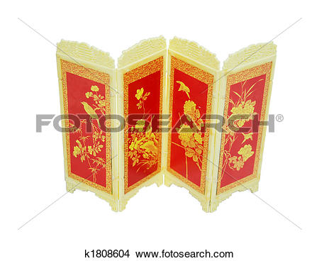 Stock Photo of Oriental screen k1808604.
