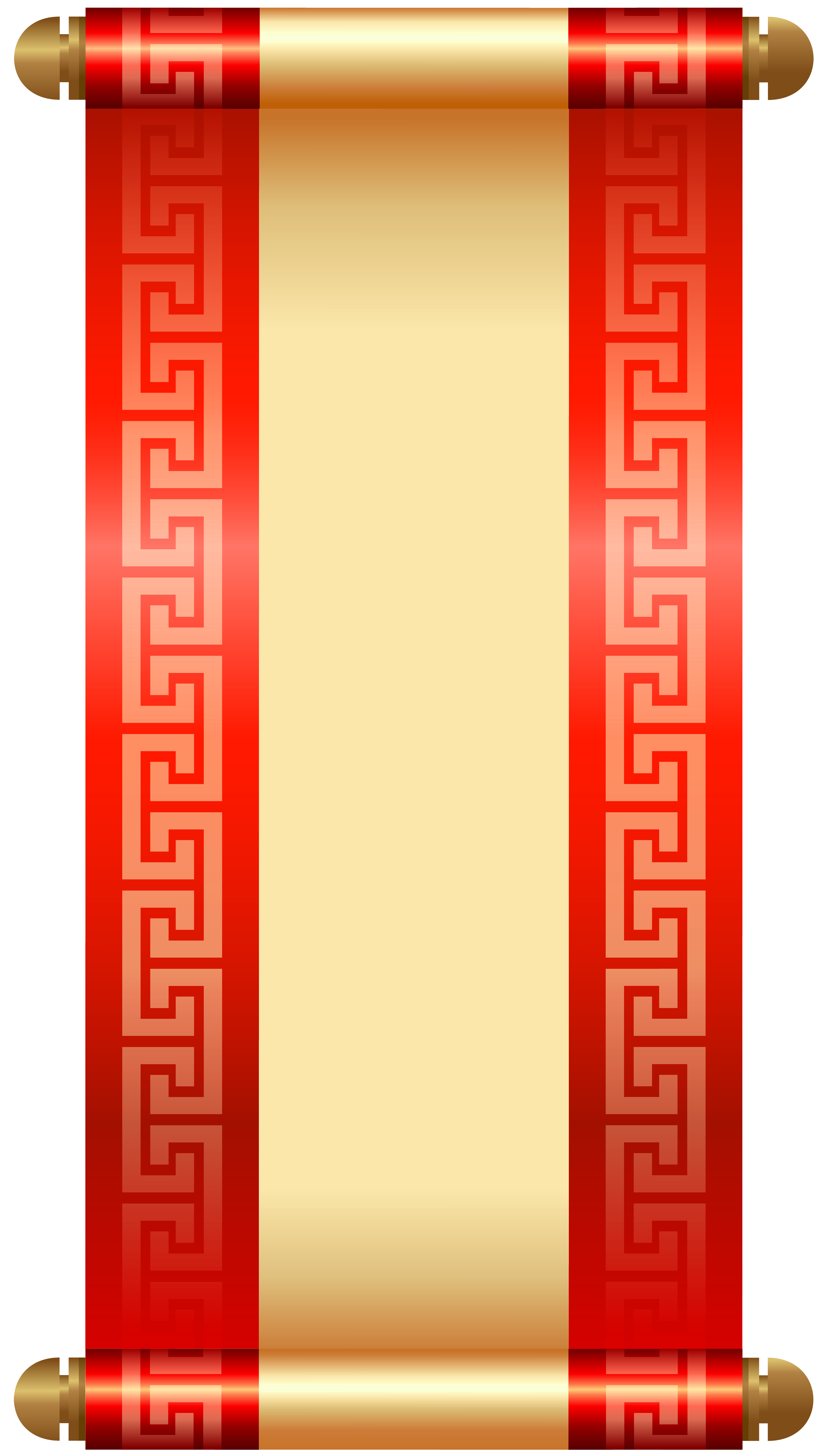 Chinese Scroll PNG Clip Art.