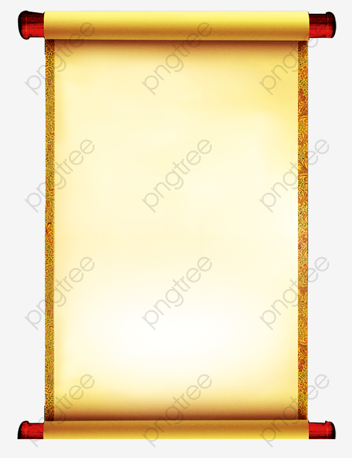 Chinese Scrolls, Chinese Clipart, Decoration, Background PNG.