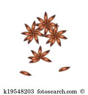 Chinese star anise Clipart Royalty Free. 34 chinese star anise.