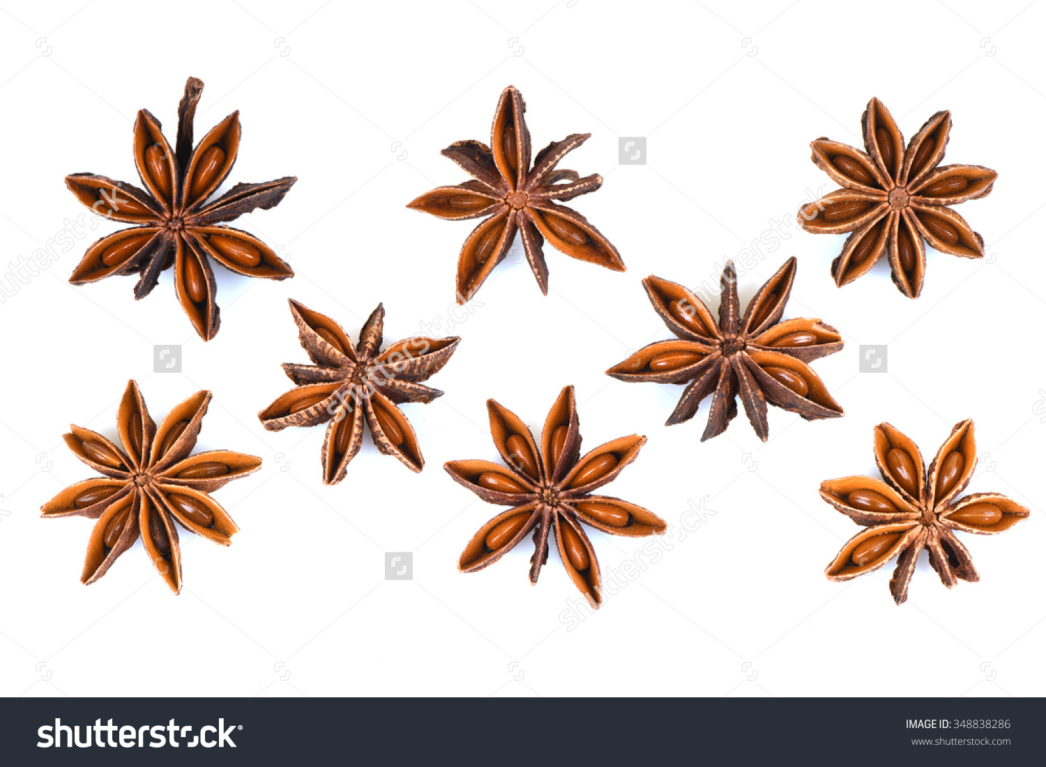 Chinese Star Anise Star Anise Star Stock Photo 348838286.