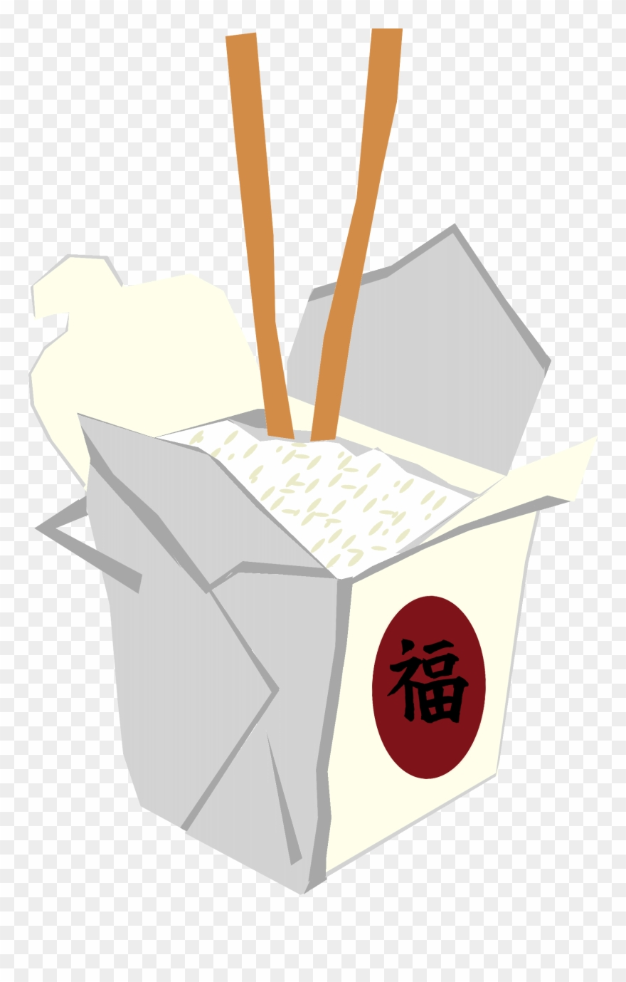 Takeout Box Clipart.