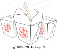Chinese Takeout Clip Art.