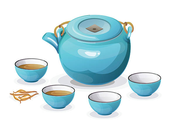 Best Chinese Tea Cup Illustrations, Royalty.