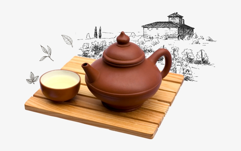 Chinese Tea Png Clipart Black And White Stock.