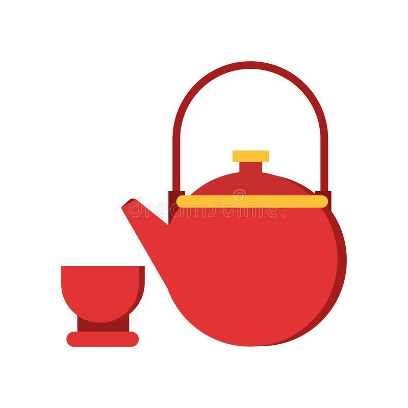 Ceremony China Tea Stock Illustrations.