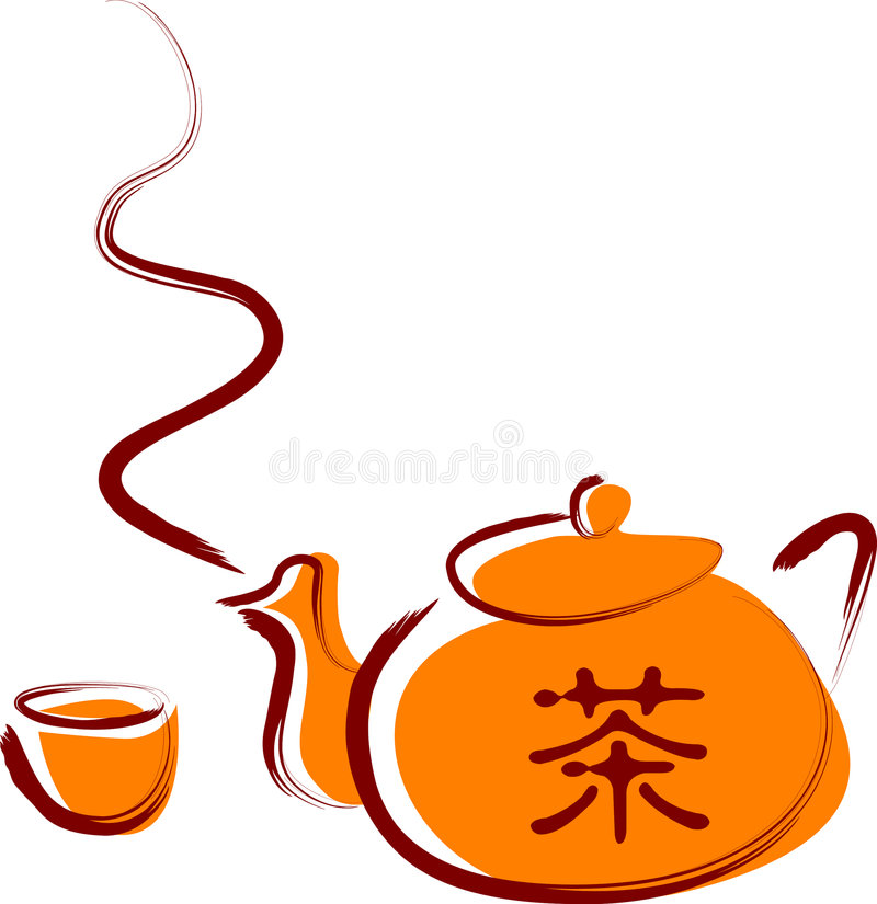 Chinese Tea Cartoon Stock Illustrations.