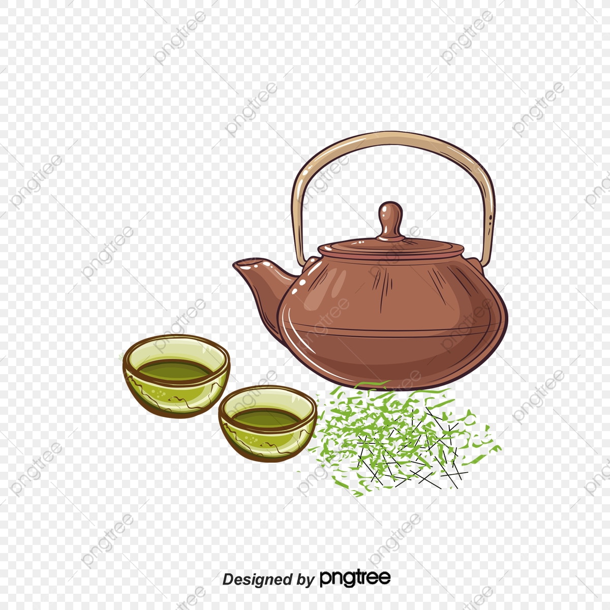 Chinese Tea Ceremony Material, Teacup, Tea, Spoon PNG Transparent.