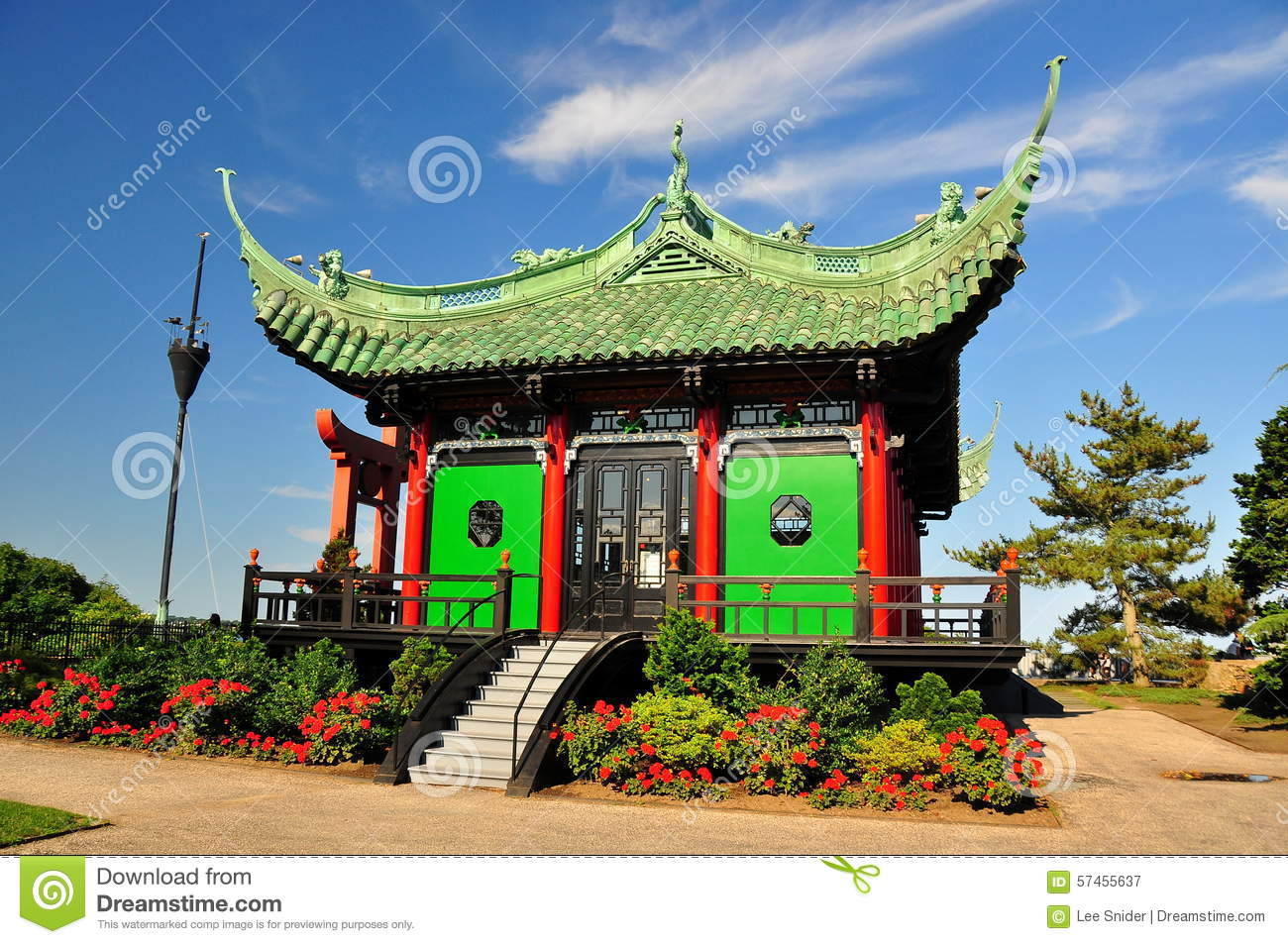 Newport, RI: Chinese Tea House At Marble House Editorial.