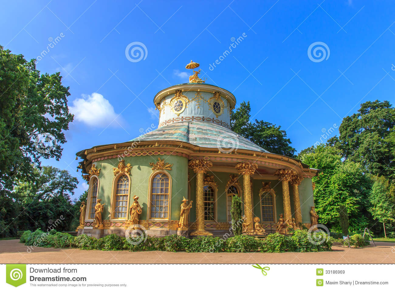 The Chinese Tea House In The Park Ensemble Of Sanssouci, Potsdam.