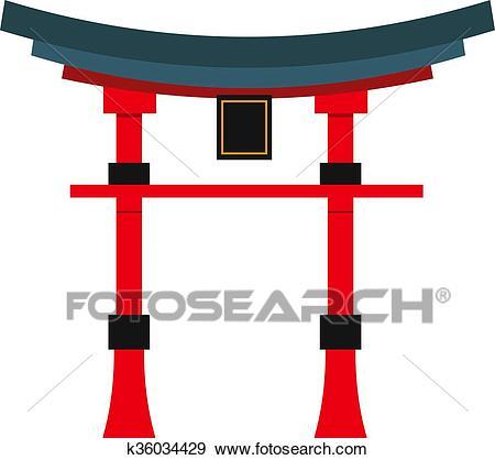 Beautiful china travel landmarks chinese temple vector. Clip Art.