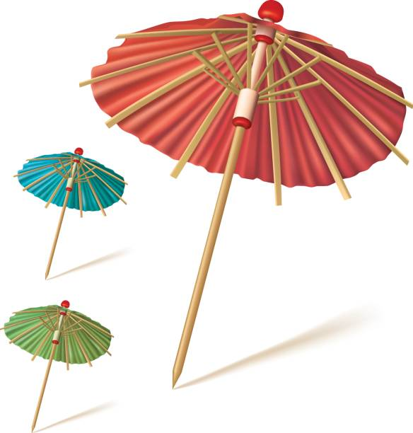 Chinese Umbrellas Clip Art, Vector Images & Illustrations.