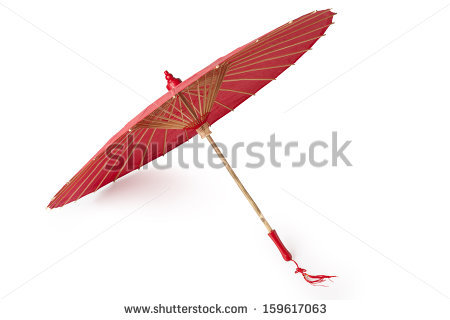 Chinese Umbrella Stock Images, Royalty.