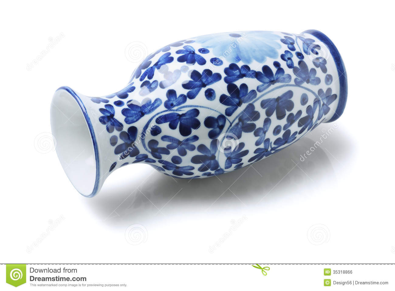 Chinese Porcelain Vase Royalty Free Stock Image.