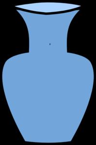 Blue vase clipart.