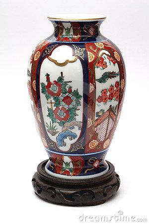 Expensive China Vase Stock Photo.