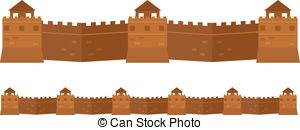 Great chinese wall Vector Clipart Royalty Free. 170 Great chinese.