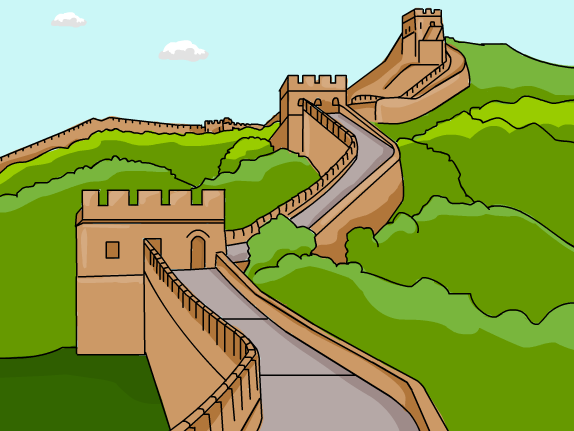 Great wall of china clipart hd.