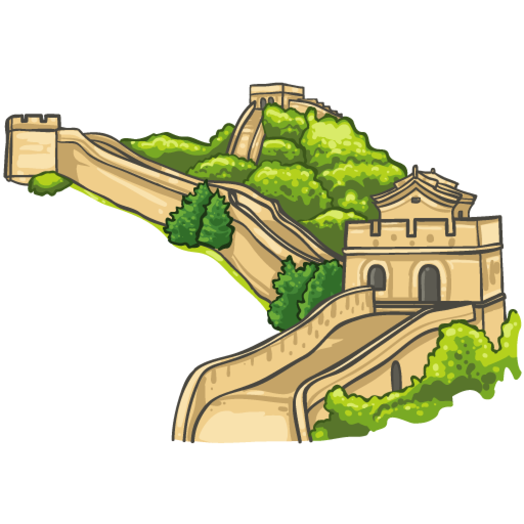 Great wall of china clipart #5