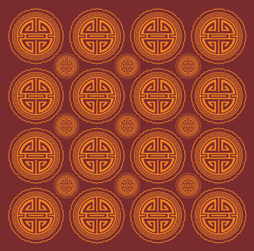 Chinese Oriental Seamless Wallpaper Background clip arts, free.