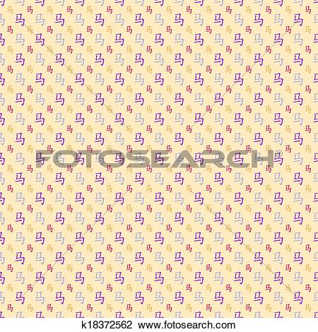 Clipart of Abstract Chinese horse hieroglyph pattern wallpaper.
