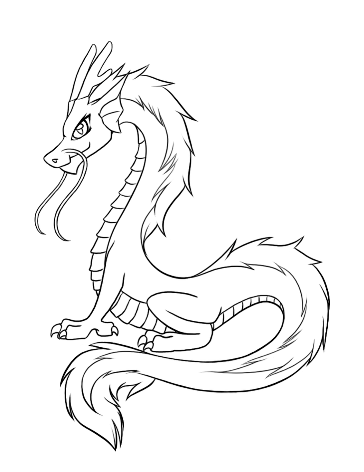 Realistic Water Dragon Clipart