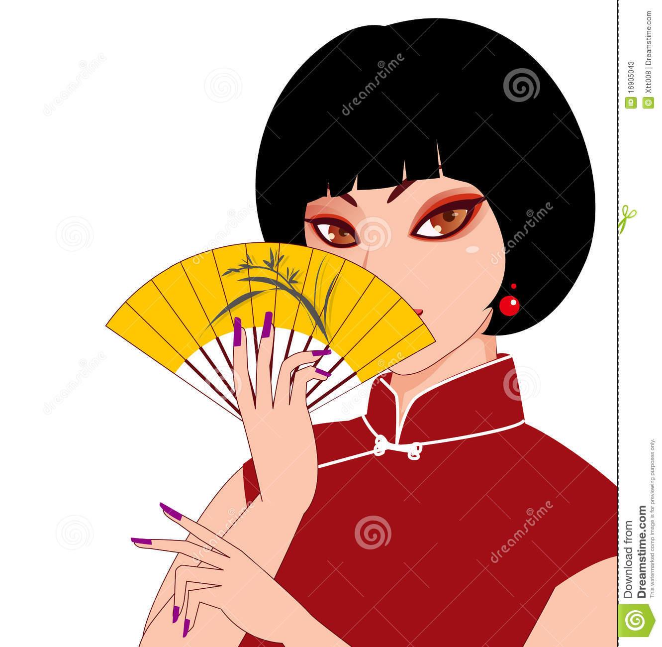 Cheongsam Stock Illustrations.