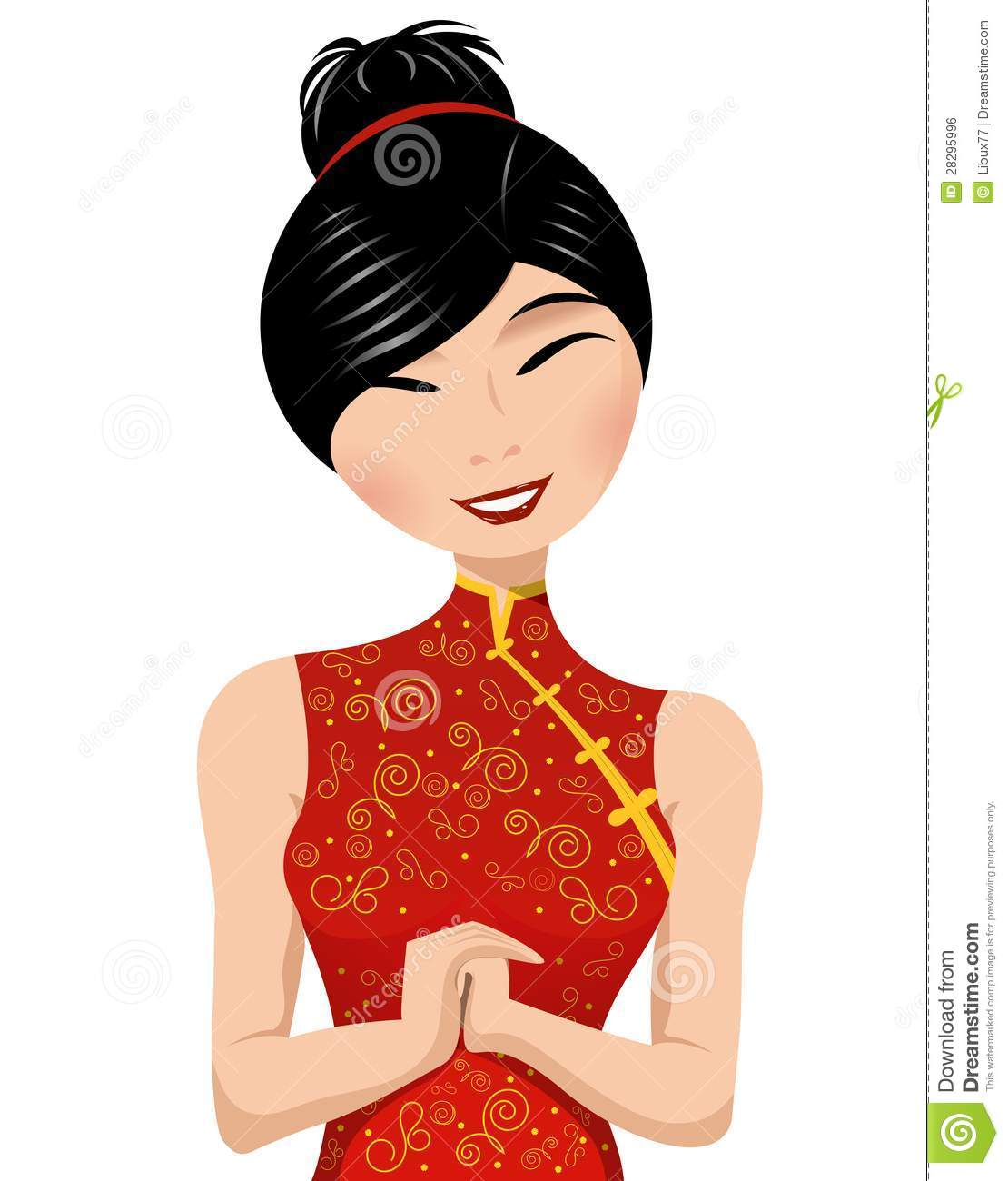 Chinese Woman Clipart.