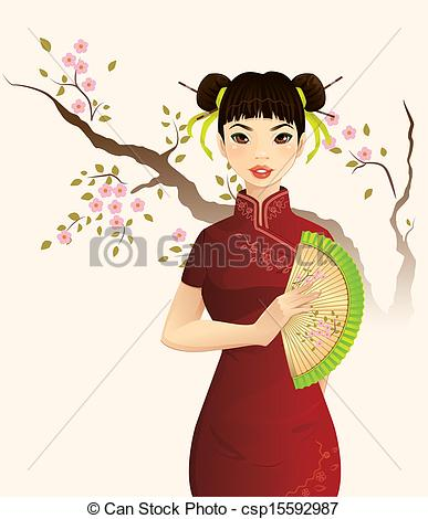 Chinese Woman Clipart